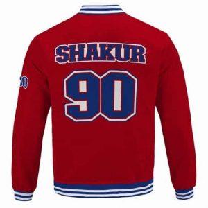 Gangsta Rapper Tupac Makaveli Shakur 90 Red Bomber Jacket
