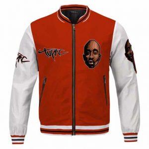 Gangsta Tupac Shakur West Coast Roses Tribute Varsity Jacket