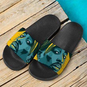 Hip-Hop Rap Legend 2Pac Shakur Tribute Art Slide Sandals