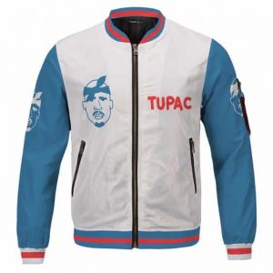 Hip Hop Rapper Tupac Shakur Face Minimalist Varsity Jacket
