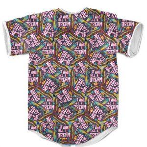 It Was All A Dream Juicy Lyrics Biggie Smalls Colorful Rainbow Baseball Jersey