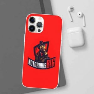 Notorious B.I.G. Logo Bloody Red iPhone 12 Bumper Case