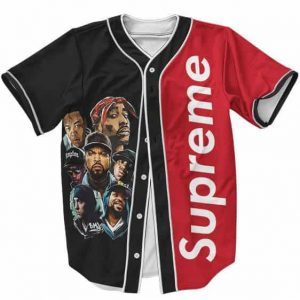Old School 90s Hip Hop Iconic Rappers Supreme Baseball Jersey
