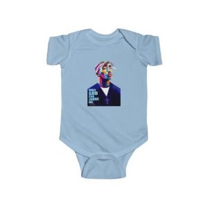 Only God Can Judge Me 2Pac Abstract Head Art Baby Onesie