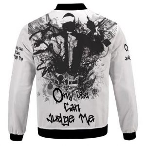 Only God Can Judge Me Monochrome Art 2Pac Bomber Jacket