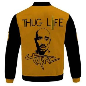 Rap Legend Tupac Makaveli Thug Life Tribute Varsity Jacket