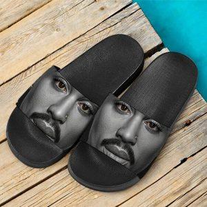 Realistic Tupac Makaveli Shakur Close-Up Face Slide Sandals