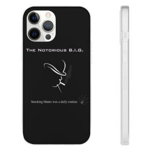 Smoking Blunts The Notorious Big iPhone 12 Fitted Case