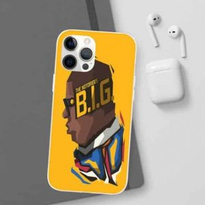 The Notorious B.I.G Minimalist Yellow iPhone 12 Fitted Case