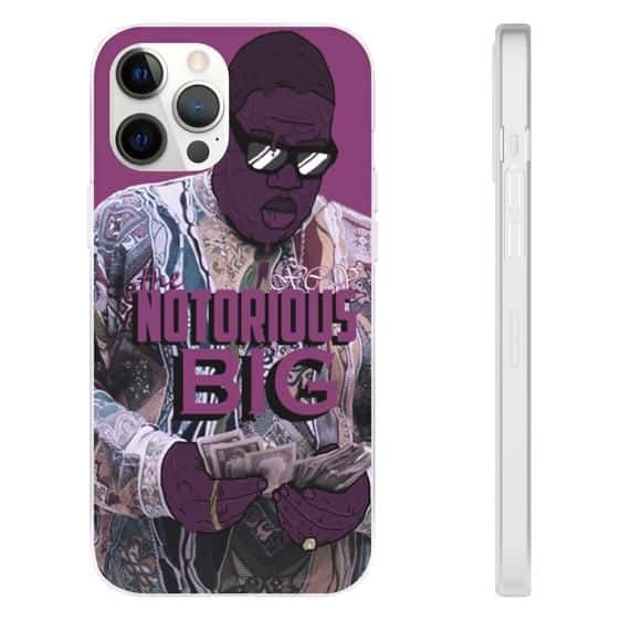 The Notorious Big Counting Money iPhone 12 Fitted Cover
