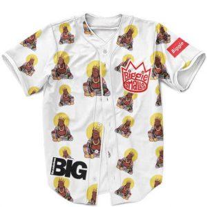 The Notorious Biggie Buddha Artwork Pattern White Red Awesome Baseball Uniform