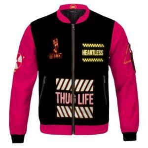 Thug Life 2 Die 4 Neon Face Art 2Pac Shakur Varsity Jacket