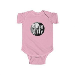 Thug Life Tupac Makaveli Dope Image Icon Baby Bodysuit
