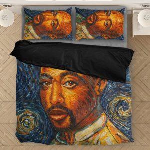 Tupac Amaru Shakur Vincent Van Gogh Art Style Bedding Set