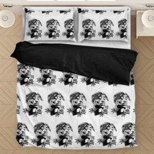 Tupac Amaru Shakur Zombie Art White Fantastic Bedding Set