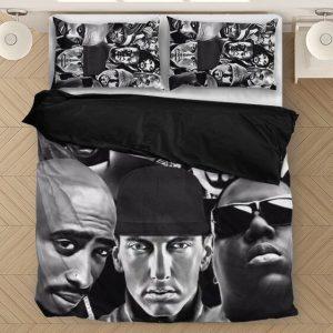 Tupac Makaveli Eminem Biggie Greatest Rappers Dope Bedding Set