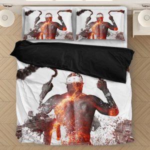 Tupac Shakur Middle Finger Guns And Smoke Dope Bedding Set