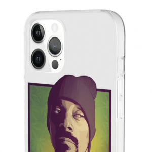 Snoop Dogg Vectorized Portrait Weed Background iPhone 12 Cover