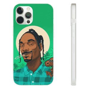 Stoned Snoop Dogg With Snoopy Dope Green iPhone 12 Case