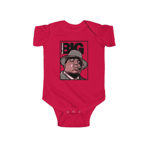 American Rapper The Notorious BIG Smoking Epic Baby Onesie