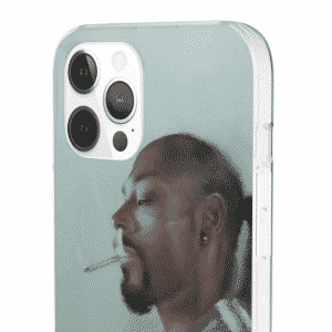 Faded Snoop Dogg Smoking a Spliff Blue iPhone 12 Cover
