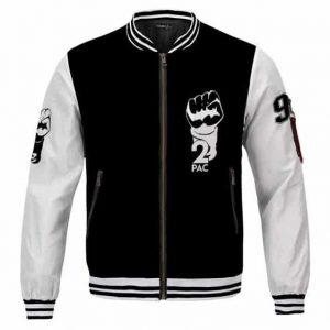 West Coast Gangsta Rapper 2Pac Shakur Legacy Varsity Jacket