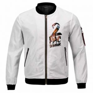 West Coast Hip Hop Icon 2Pac Shakur Face Art Bomber Jacket
