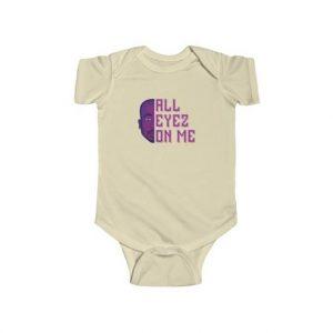 Purple Tupac Shakur All Eyez On Me Dope Baby Bodysuit